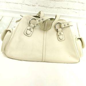 Banana Republic Ivory Leather Shoulder Bag
